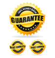 three gold labels vector image