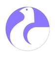 dove white symbol vector image