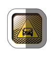 forbidden vehicle roadsign vector image