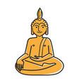 yellow buddha statue vector image