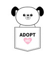 adopt me dog sitting in pocket pink heart vector image vector image