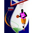 al 0815 basketball 02 vector image vector image