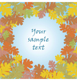 Autumn background with round leaves vector image vector image