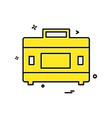 bag icon design vector image vector image
