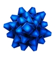Blue bow top view EPS 10 vector image vector image