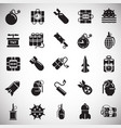 bomb and weapon icons set on white background for vector image