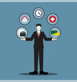 businessman balance life vector image vector image