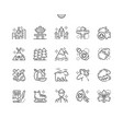 canada well-crafted pixel perfect icons vector image