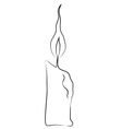 Candle stick vector image vector image