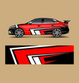 car decal graphic wrap vinyl sticker graphic vector image vector image