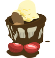 Chocolate mud cake vector image vector image