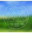 circle eco infographic Ecology template vector image vector image