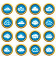 cloud icons set simple style vector image vector image