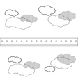 cloud shape pattern icon vector image