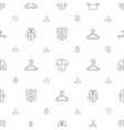 coat icons pattern seamless white background vector image vector image