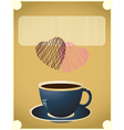 coffee date vector image vector image