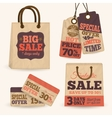 Collection of paper sale price tags vector image vector image