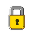 color padlock object to security and protection vector image