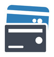 credit card payment icon vector image vector image