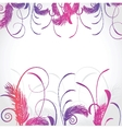 Delicate pattern with pastel colored flowers vector image vector image