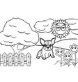 dog cartoon coloring book vector image vector image