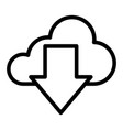 download from cloud line icon cloud and arrow vector image vector image