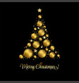 elegant christmas background with gold baubles vector image vector image