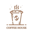 emblem concept coffee house vector image