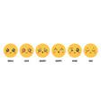 emoticons emotions cartoon emoji faces with happy vector image vector image
