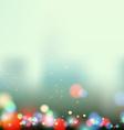 evening city lights vector image