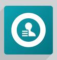 flat profile application icon vector image