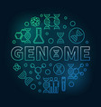 genome round concept colorful linear vector image