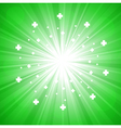 green abstract explosion vector image