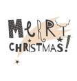 hand drawn lettering sign Merry Christmas vector image vector image