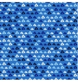 hand drawn triangle pattern on a coloured vector image vector image