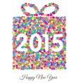 Happy new year 2015 gift vector image vector image