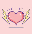 heart and rays vector image