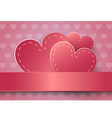 Heart Paper Sticker vector image