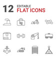 heavy icons vector image vector image