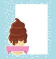 ice cream tasty image vector image