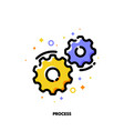 icon of gear wheels for business process concept vector image