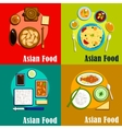 Indian chinese thai and korean cuisine vector image vector image