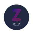 letter x latin alphabet display vector image vector image