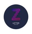 letter x latin alphabet display vector image