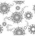 Mandala pattern Hand drawn ethnic decorative vector image