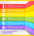 Modern colorful flat designed option template For vector image