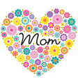 mothers day flower heart graphic vector image vector image