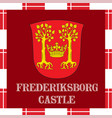 national ensigns of denmark - frederiksborg castle vector image vector image