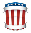 patriotic red white and blue american pride shield vector image