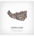 people map country Somaliland vector image vector image